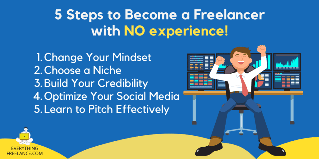 5 Steps To Become A Successful Freelancer With No Experience