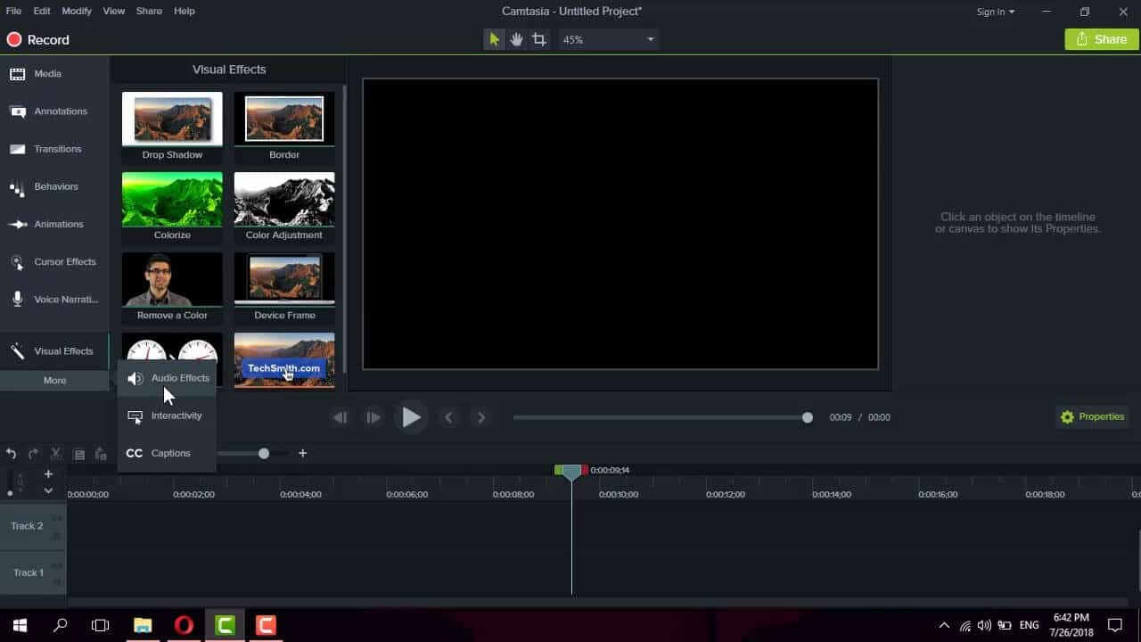 Camtasia - Free Editing Tools for Beginner
