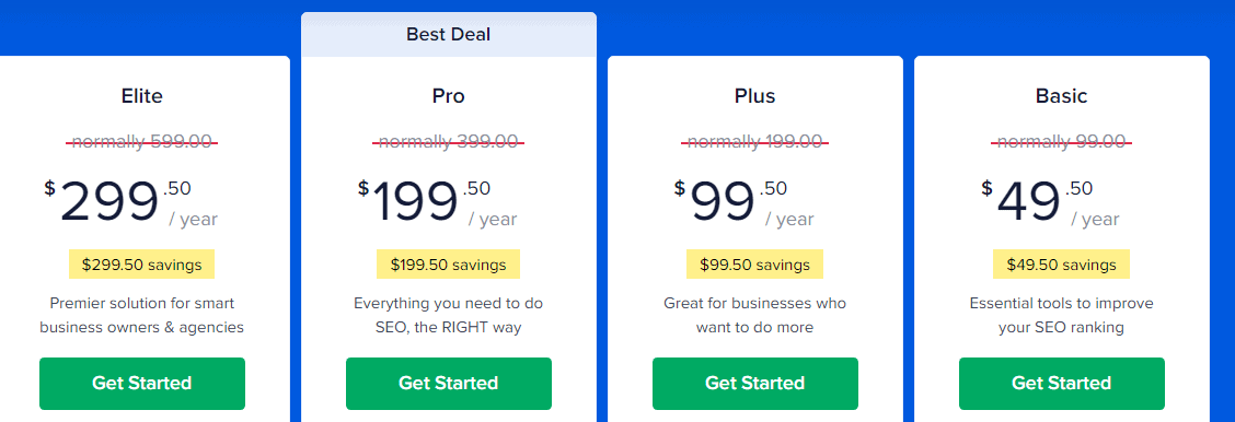 All in SEO Pricing Details